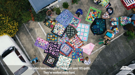 Quilts for the community by Rose City Quilters