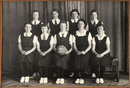 Palmerston North Technical School Netball B, 1937