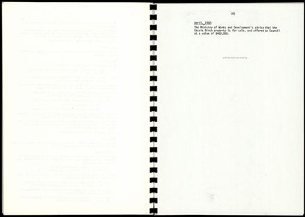 Booklet, Caccia Birch - Submission to the Minister of Works & Development 16