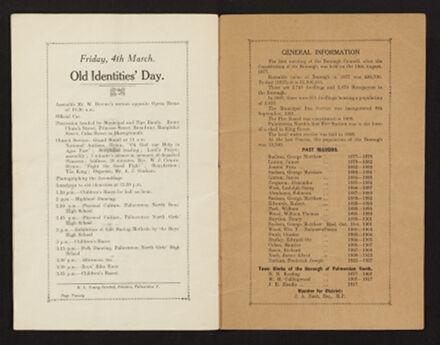 Palmerston North 1927 Jubilee Souvenir Programme 12