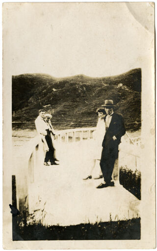 Andrews Collection: Unidentified Group at Mangahao Dam