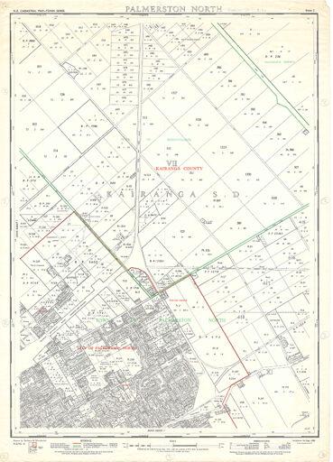NZ Cadastral Map - Town Series: Palmerston North Map 2
