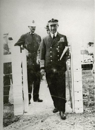 Viscount Jellicoe, Governor General at the dedication of Rongotea War Memorial