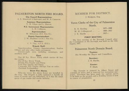 City of Palmerston North Municipal Hand Book 1937 13