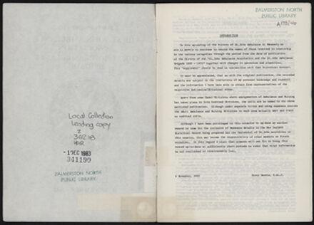 Supplement to History of the St John Ambulance Association Manawatu, 1900-1975 2