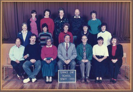Terrace End School - Staff, 1990