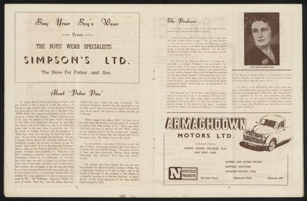 Peter Pan Programme, Palmerston North Opera House5