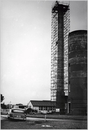 Boiler chimney, Palmerston North Hospital