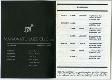 Manawatū Jazz Festival Program, 1992