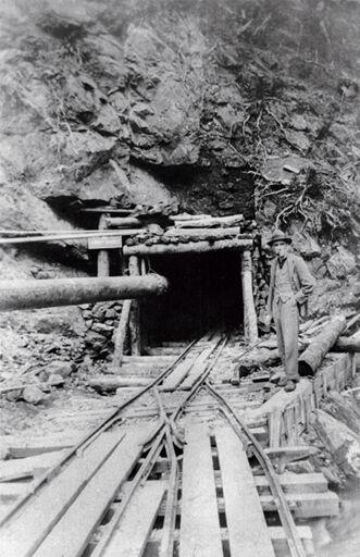 George Fern at No. 1 Tunnel - Mangahao Electric Power Scheme