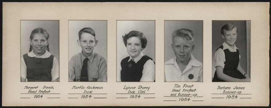 Terrace End School Student Leaders, 1954