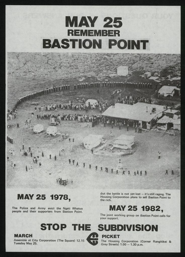 Remember Bastion Point flyer