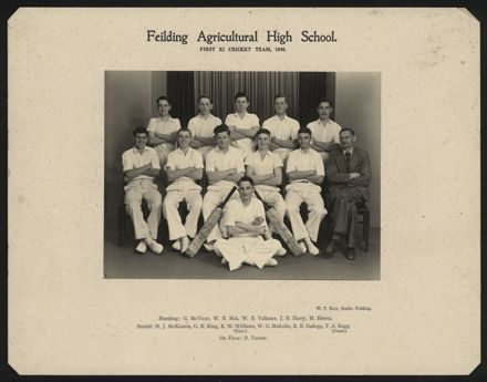 Feilding Agricultural High School First XI Cricket Team 1949