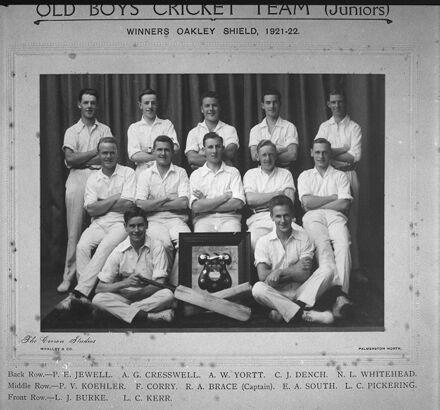 Old Boys Cricket Team (Junior) - Palmerston North Boys' High School