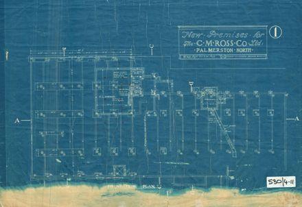 CM Ross Building, Foundation Plan, 1928