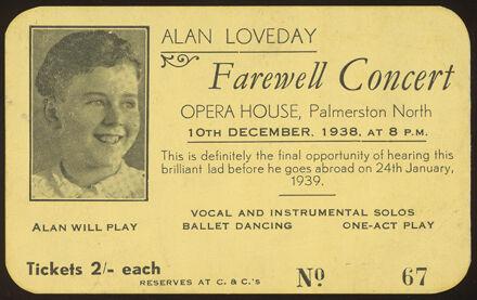 Alan Loveday Farewell Concert ticket
