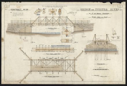 Plan, Turitea Bridge (2nd Crossing)