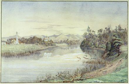 Painting of Awapuni Lagoon