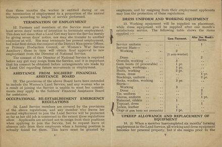 New Zealand Women's Land Service Handbook of Information: Page 4