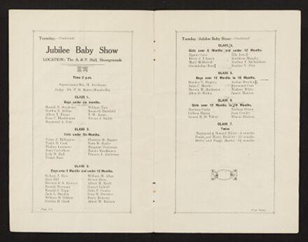 Palmerston North 1927 Jubilee Souvenir Programme 5