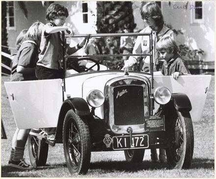 Austin Seven car at Club Day, Awapuni Racecourse