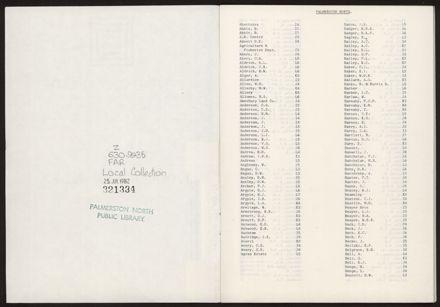 Index p1 (Palmerston North)