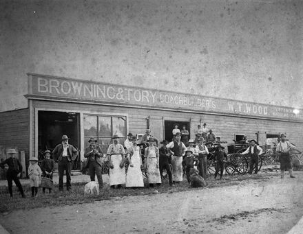 Staff outside Browning and Tory Coachbuilders