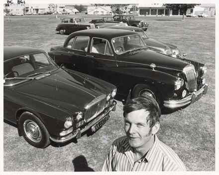 John Falkner with cars