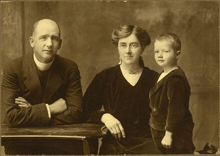 Rev James, Mrs Bredin and Norman (child)