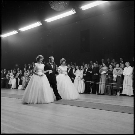 """Debutantes Being Presented at Masonic Ball"""