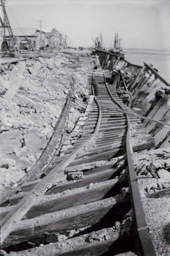 Rail track damage after Napier Earthquake