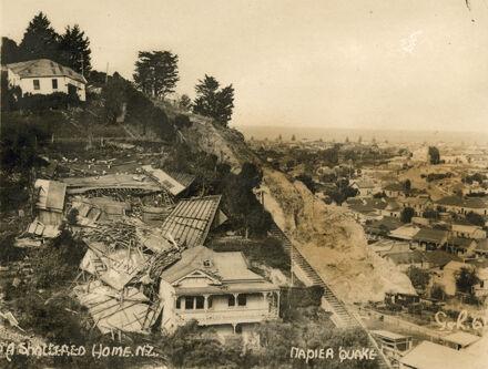 Napier Hill after Napier Earthquake