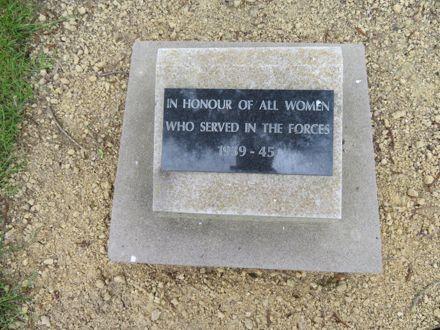 Memorial Park plaque