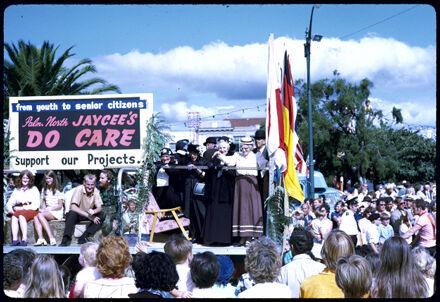 Jaycee's Float - 1971 Palmerston North Centennial Jubilee Parade