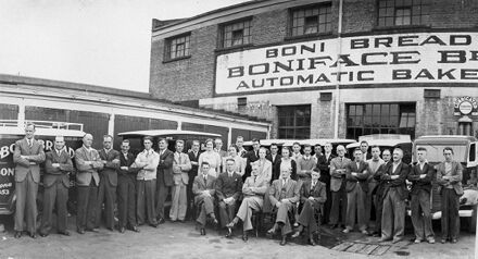 Management & staff of Boniface Brothers Bakery, corner of Cuba and Bourke Streets