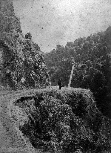 Walking on the Manawatu Gorge road
