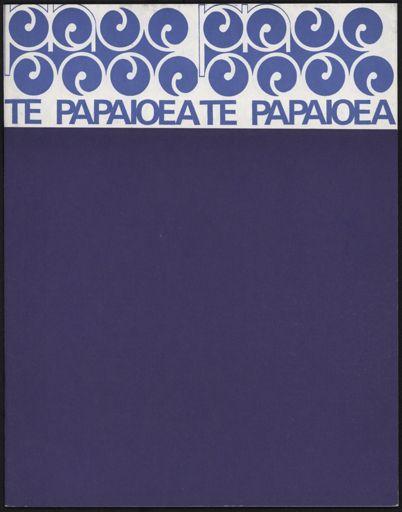 """Te Papaioea"" Theatre Programme"
