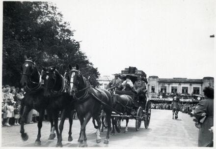 Cart Load of Costumed People - 1952 Jubilee Celebrations