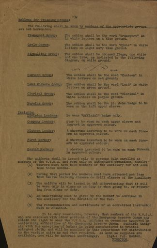 Memorandum to Women's War Service Auxiliary from J. S. Hunter Page 3
