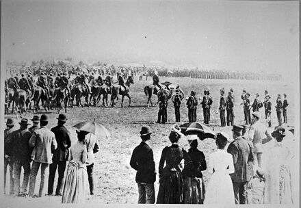 Parade of Volunteer Forces in Waldegrave's paddock