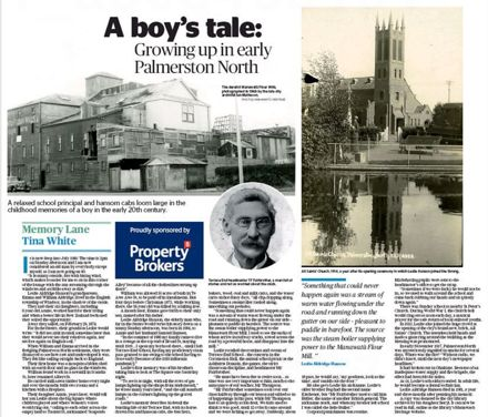 "Memory Lane - ""A boy's tale: Growing up in early Palmerston North"""