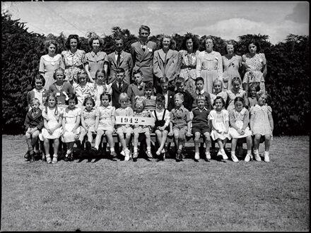 Woodland Roads School Jubilee - Class of 1942, with teacher