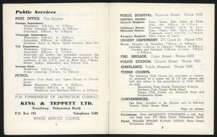 Palmerston North Diary: December 1957 - 6