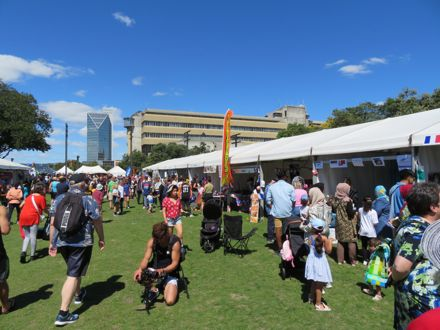 Crowds at the Festival of Cultures