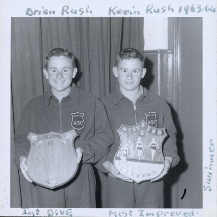 West End Amateur Swimming Champions - Brian Rush / Kevin Rush