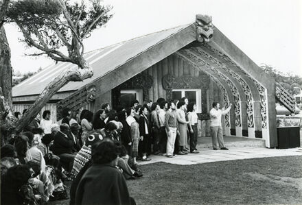 Opening of the Marae 'Te Kupenga o Te Mātauranga' at the Palmerston North Teachers' College