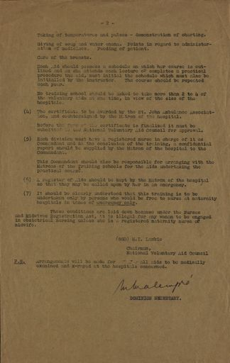 Women's War Service Auxiliary Memorandum No. 16 Page 2
