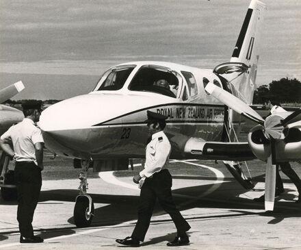 Cessna Plane on Ohakea Base Runway