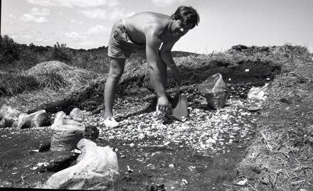 Archaeological Dig at Foxton Beach