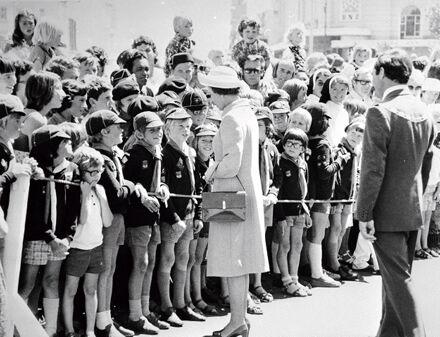 Queen Elizabeth II with Scouts